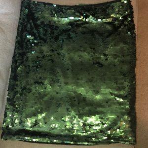 Eloquii green sequins skirt Sz: 22/24